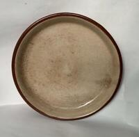 Antique 19thC Redware Red Ware pie plate pottery 9