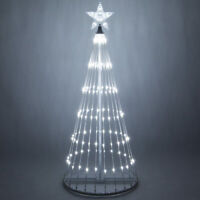 LED Outdoor Christmas Light Show Motion Tree White Color 3D Display Decor NEW