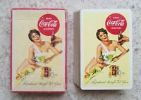 1956 COCA-COLA PLAYING CARDS DECK WOMAN ON BEACH!