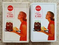 1964 MINTY COCA-COLA PLAYING CARDS DECK WOMAN WITH TRAY!!