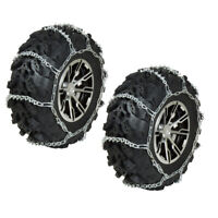 REAR ATV Tire Chains V-Bar PAIR 2008-2017 Suzuki King Quad 750 4x4