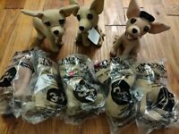 Lot of 8 Yo Quiero Taco Bell Plush Chihuahuas Stuffed Animals Dogs
