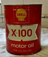 Shell X-100  One Gallon Oil Can