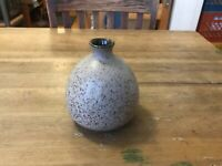 Frank C Mann Vermont Pottery Stoneware Bud Vase Weed Pot Speckled Mid Century