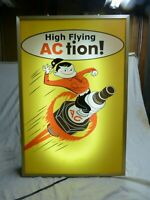 Large AC delco spark plugs lighted parts store advertising sign Chevrolet parts