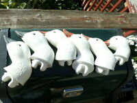 6 Avery GHG Greenhead Gear Snow Goose Shell Decoy Heads Replacement Life Size