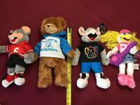 Lot of 4, Chuck E Cheese Plush Stuffed Dolls