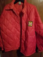 Vintage Red Swingster FUNK'S G HYBRIDS Quilted Farmer Jacket sz large1970's 80s