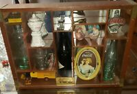 COCA-COLA 100 ANNIVERSARY CENTENNIAL CELEBRATION BOTTLE WOODEN DISPLAY CASE NICE
