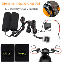 12V Winter Motorcycle ATV Heated Grips Pad Handlebar w Wires amp; Switch Heater Kit