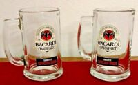 Bacardi Mugs Oakheart Spiced Rum Tankard Beer Stein 16 oz Glass Bar Set of 2