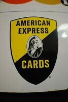 Vintage  AMERICAN EXPRESS MASTER CHARGE AMERICARD double sided porcelain Sign