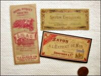 15 Vintage look FRENCH PERFUME LABELS Victorian Paris Apothecary Primitive