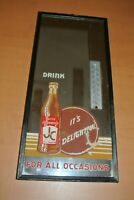 Very Rare JUSTLY CELEBRATED JC COLA MIRROR THERMOMETER SIGN 1940's-50's