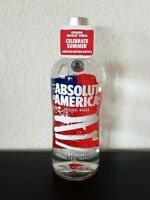 ABSOLUT AMERICA Vodka Flag Limited Edition Collectors Bottle 1.75L EMPTY + Tag