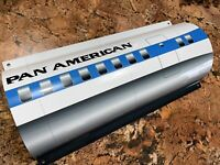 WOW!Curved PAN AM PAN AMERICAN Dc-8 Passenger Plane WALL SIGN AVIATION