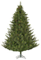 6' Artificial Pine Christmas Tree with Pine Cones - 450 White LED Lights