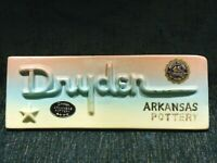 Dryden Pottery, Hot Springs AR, Dealers Advertising Plaque / Sign, Mint Cond.