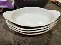 1950's Hall Pottery - Au Gratin Dishes - Set of 4