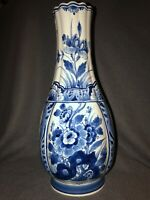 Vintage ROYAL DELFT 14 Inch Tall 1967 Hand-painted Signed Focke