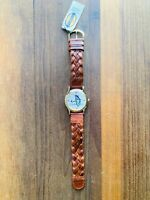 NEW Relic Fossil Watch Friends TV Show ZR96032 Braided Leather Band Gold Vintage
