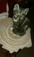 Winstanley hand made in Norfolk glass eyed tabby cat size 4