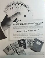 Lot 4 Vintage Bicycle Playing Cards Ad Advertisements Bee Congress Tally-Ho