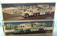 Vintage 2002 HESS TOY TRUCK AND AIRPLANE and 1995 TRUCK AND HELICOPTER NEW