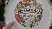 Colorful Twelve Inch Italian Made Pizza Platter