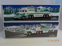 Vintage 2002 HESS TOY TRUCK AND AIRPLANE and 1995 TRUCK AND HELICOPTER NIB