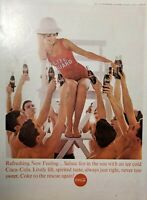 Lot of 3 Vintage Coca Cola Ads FREE SHIP