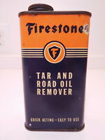 RARE original vintage FIRESTONE Tar & Road Oil Remover empty metal can