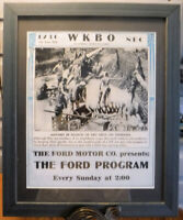 Poster Framed Ford Motor Co. NBC Radio Marines in Okinawa