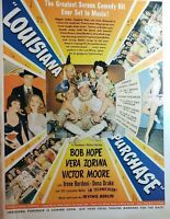 Lot of 4 Vintage Movie Ads Ingrid Bergman Bob Hope Fred March Gordon MacRae