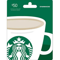 $50 STARBUCKS GIFT CARD NEW PHYSICAL CARD  FIRST CLASS FREE SHIPPING