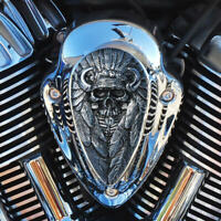Native Spirit insert for Indian motorcycle horn cover in polished alum. NSIP-1