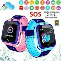 US Anti lost Smart Watch GPS Tracker SOS Call GSM SIM Gifts For Child Kids $12.50