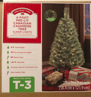 Holiday Time 4' ft Pre-Lit Canadian Cashmere Artificial Christmas Tree