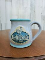 Deneen Pottery Egg Harbor Cafe Illinois Hand Thrown Coffee Mugs Cups 1985