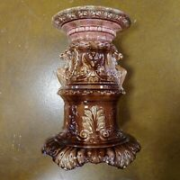 Antique Jardiniere Pedestal Old Art Pottery Griffin Plant Stand