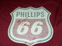 Old Phillips 66 Pump Decal Sign Truck Car Door Gas Filling Oil Station Vintage