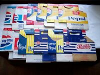 PEPSI BOTTLE CARTONS CARRIERS 12 ALL DIFFERENT PEPSI COLA BOTTLE CARTONS NICE!