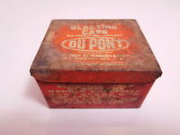 Original vintage DUPONT BLASTING CAPS metat tin box EMPTY
