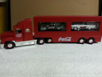 VTG 2001 Coca Cola Holiday Dual Classic Carrier Semi Truck with 2 Thunderbirds