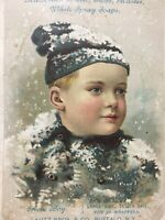 ACME Soap Snow Boy Lautz Bros Buffalo NY Victorian Ad Trade Card Art Offer 1889