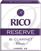Rico Reserve Classic Bb Clarinet Reeds, Strength 2.0, 10-pack