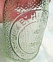 Vintage Dairy Milk Bottle Heritage Co. 1 2 Pint Glassware collectible country