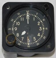 Vtg WALTHAM WATCH USAF 8 DAY ABU-5A AIRCRAFT CHRONO CLOCK *WORKS*