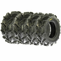 Full Set of New Sun-F ATV UTV QUAD SXS Mud Tires (4) 27X9-14  27X
