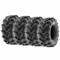 Full Set of New Sun-F ATV UTV QUAD SXS Mud Tires (4) 28X12-12  28X12X12 6PR /050